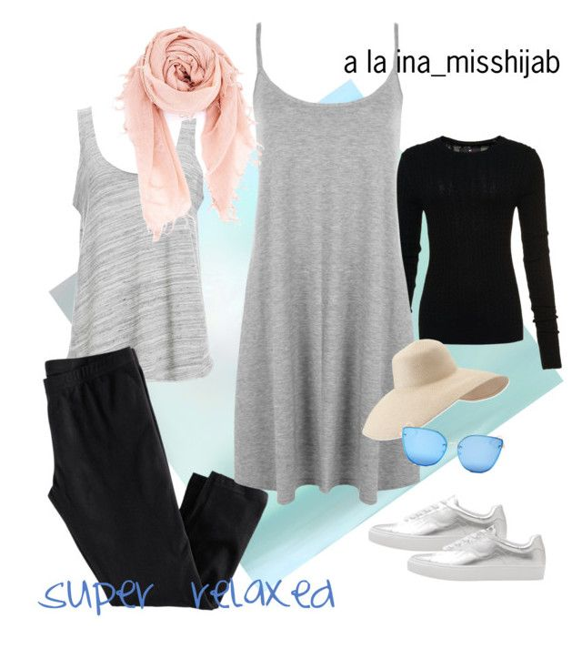 """super relaxed"" by ina-misshijab on Polyvore featuring Project Social T, H&M, Superdry, WearAll, Chan Luu, MANGO, Eric Javits and Quay"