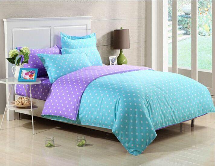 Conjuntos de cama impressão reativa 100% algodão ponto branco e café ( capa de edredon + folha plana + fronha ) gêmeo rainha rei em Roupas de cama de Casa & jardim no AliExpress.com | Alibaba Group