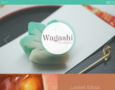 """Check out new work on my @Behance portfolio: """"Wagashi - Handmade (website)"""" http://on.be.net/1EsACKu"""