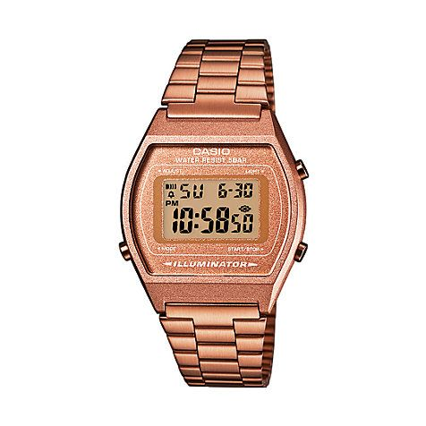 Diese klassische Casio Retro Uhr besticht mit ihrem unglaublichen Kupfer-Farbton. #kupfer #watch #christjuweliere #casio Collection Retro Style B640WC-5AEF