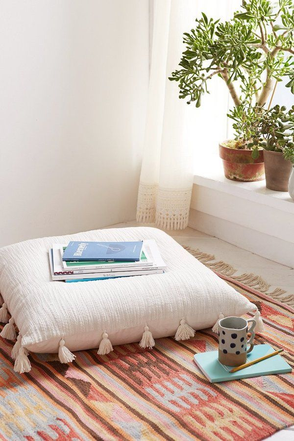 Boho Home » Bohemian Life » Exotic Interiors U0026 Exteriors » Eclectic Space »  Boho. Giant Floor PillowsOversized ...