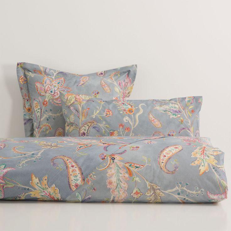 Blue Floral Print Bed Linen - Bed Linen - Bedroom | Zara Home Oman