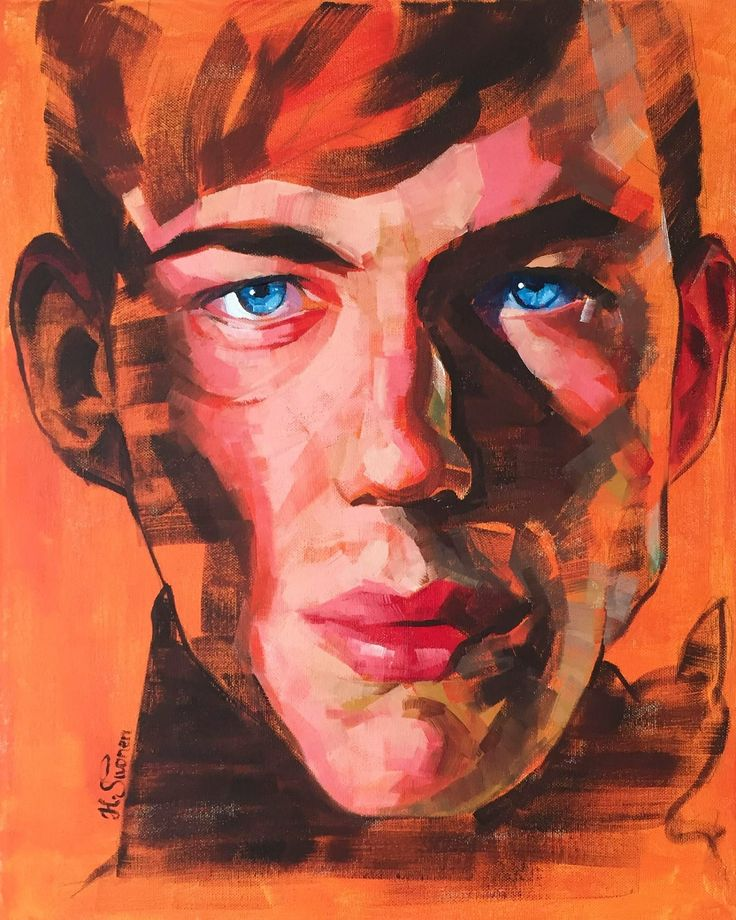 """Comic Book Villain"" oil and acrylic on canvas 40x50cm by Heikki Sivonen 2017. #art #portrait #male #model #expressive"