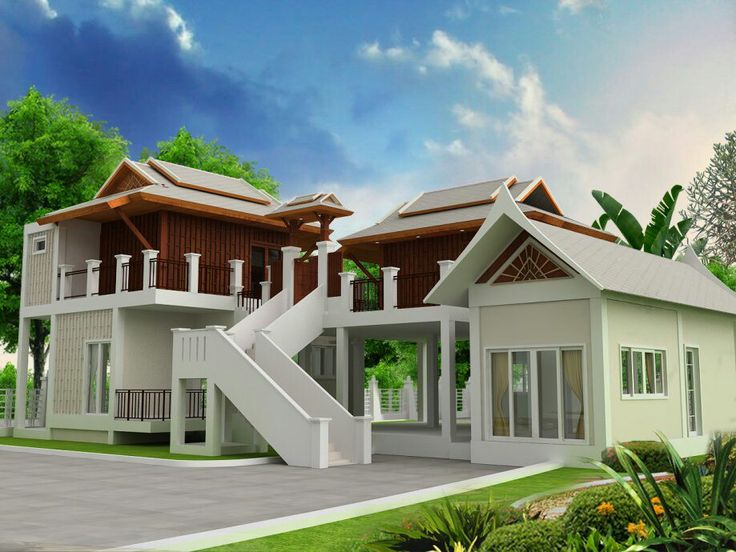 Thai Home Design the house applications plans the design integrated into the modern era perfectly by the uniqueness of thai arts the trim around the house bua thai Thai House