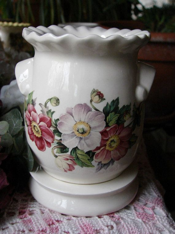 Floral Swag  Electric Tart Warmer by birdlandparadis on Etsy, $25.00