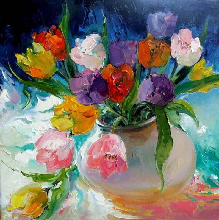 Открытки гуашью цветы