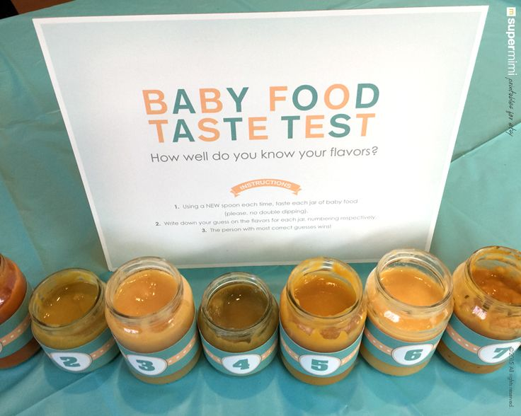 Baby Shower Baby Food, Girth and Dirty Diaper Game Signs with Labels  Perfect for all baby showers! Includes popular baby shower games like the dirty diaper game, guess the girth and baby food taste test games. Each sign has title and directions on how to play. Labels also included.  https://www.etsy.com/shop/SupermimiDesign