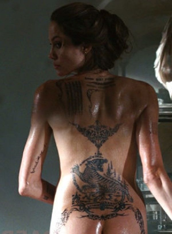Angelina butt jolie naked pussy close