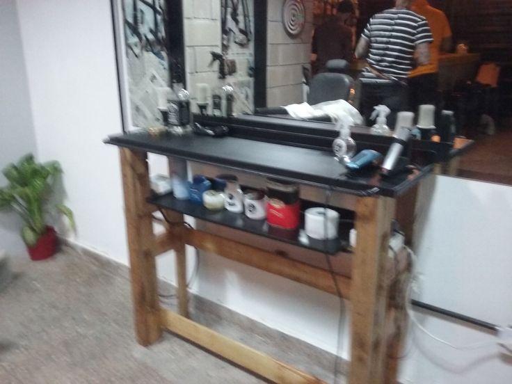 Mueble peluqueria terminado