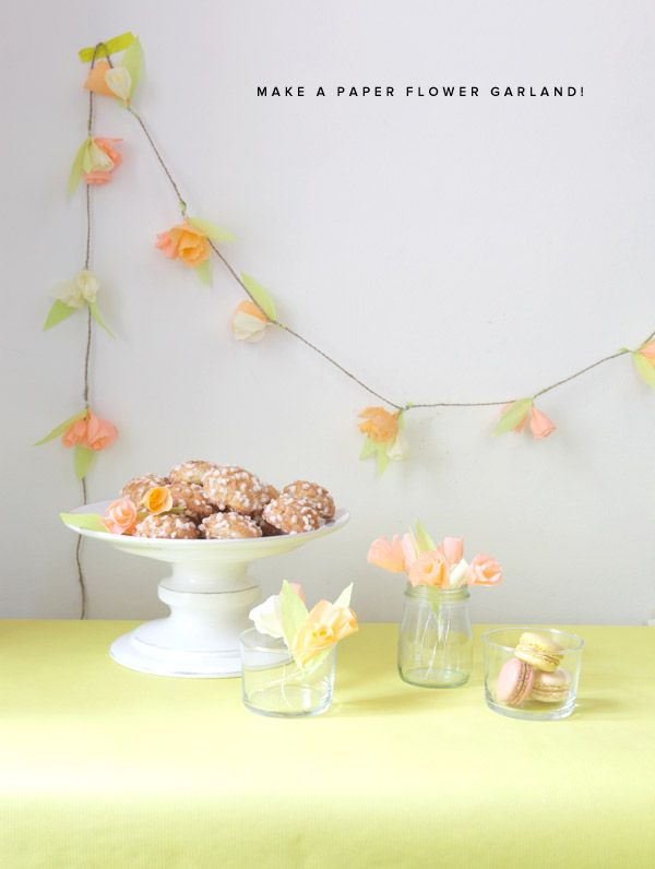 How fun to decorate with!: Paper Garlands, Crepes Paper Flower, Paper Flower Garlands, Flower Gardens, Parties Ideas, Flower Decor, Crepe Paper Flowers, Crepes Flower, Baby Shower
