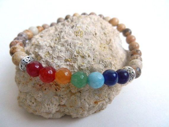 Mens bracelet 7 Chakra bracelet male bracelets by EnergyCircle