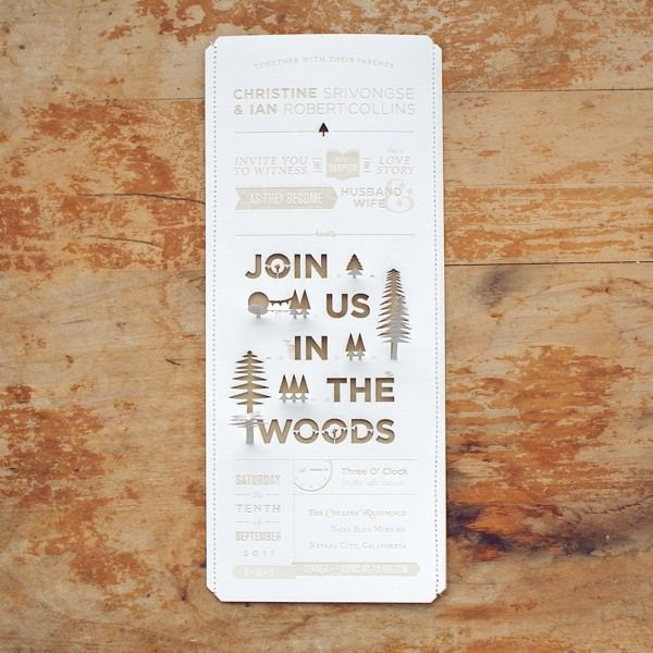 130 best invitations images on pinterest graphics cards and join us in the woods by ian collins via behance stopboris Images