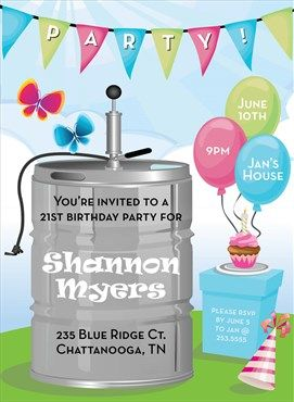 Spring Keg Party Invitation