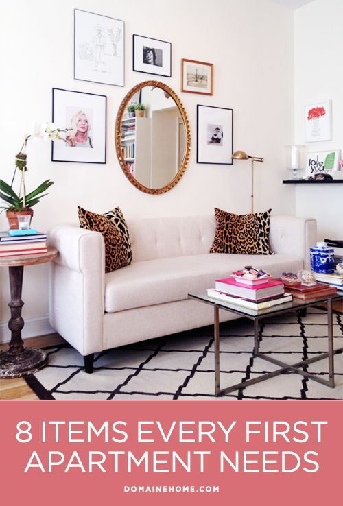8 Items Every First Apartment Needs...I'll be glad I pinned this in about 10 months...