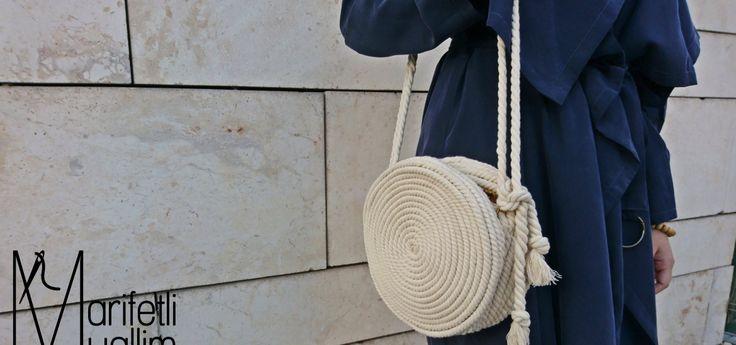 Halat Yuvarlak Çanta Yapımı || Circle Bag