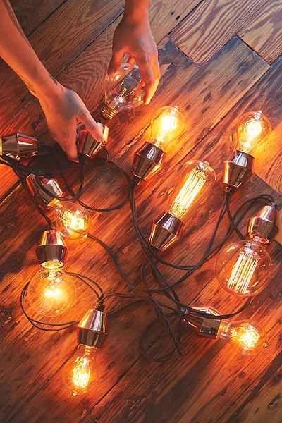Jeux de lumières avec douilles en métal