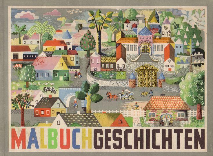 Ilse Firbas / Malbuchgeschichten Mit Bildern von Heinz Kiessling Kinderbuch Georg Westermann Verlag (Braunschweig/Deutschland; 1949) ex libris MTP