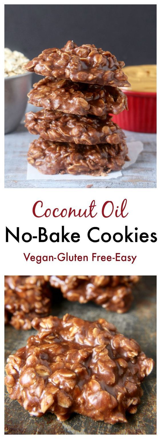 Coconut Oil No-Bake Cookies- A delicious twist on the classic. Vegan, gluten free, dairy free.