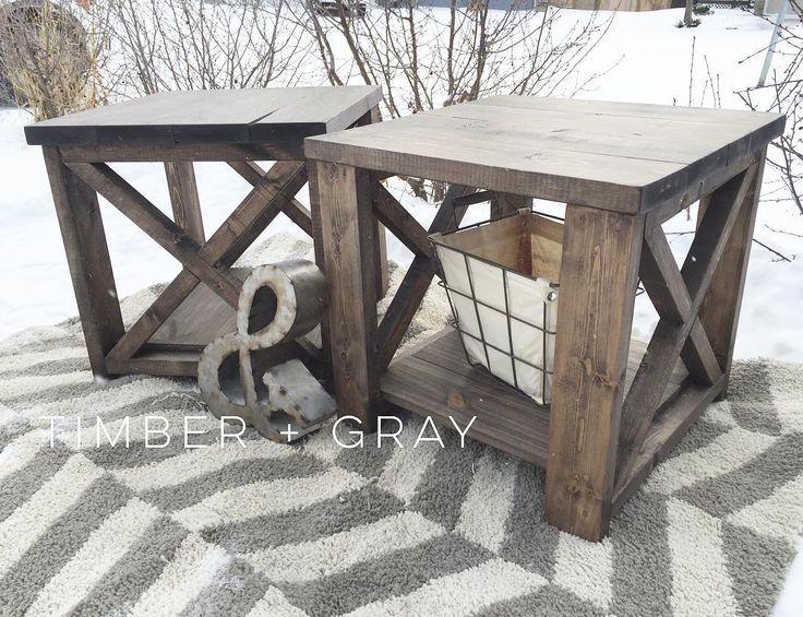 Rustic EndTable | Ana White | DIY End Table | Farmhouse Coffee Table | Rustic X Coffee Table | Farmhouse Décor | Rustic Décor | Cottage Style | Home Décor