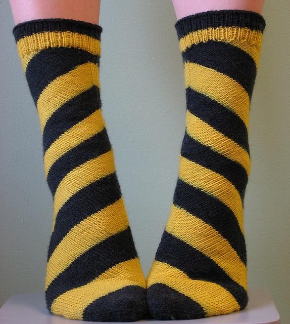 Bee Skew Socks by gemina.., via Flickr