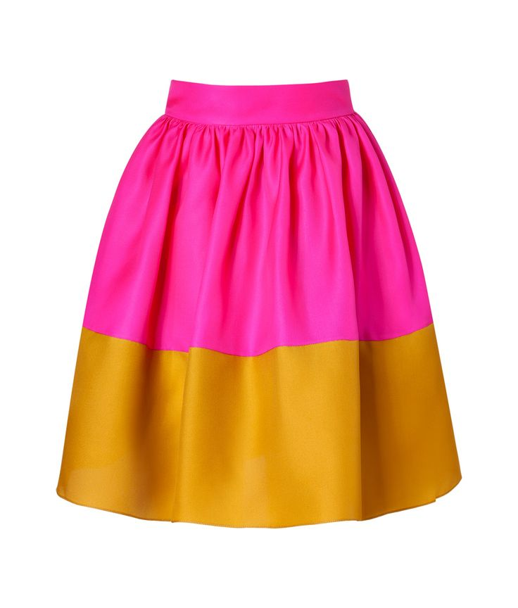 Hot Pink + Mustard. Silk Organza Skirt. (an unexpected color palette, but I like it!).