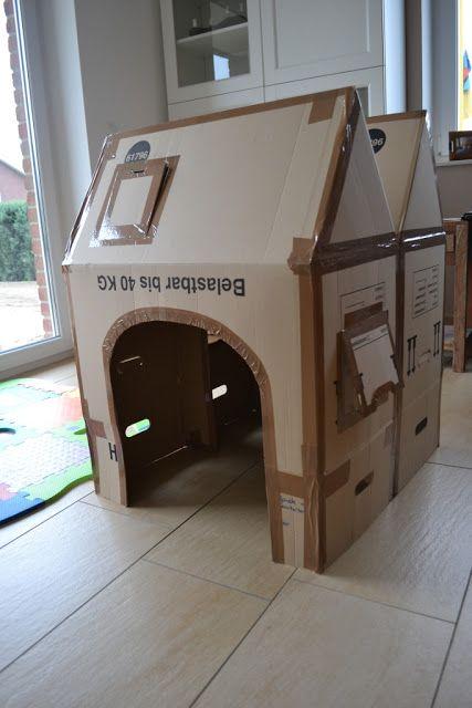 DIY: Haus aus Pappkarton