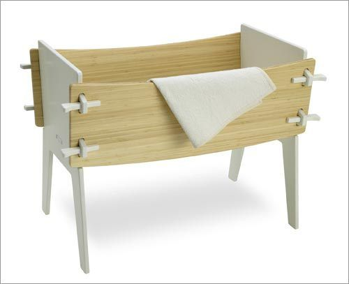 Crib by Celery  The Montana-based Celery creates its modern furniture from fast-growing bamboo, recycled fiberboard, and non-toxic adhesives. The no-tool assembly incorporates the mortise and tenon joinery as part of the sleek design.