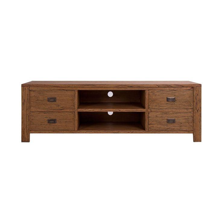 74 best muebles tv images on pinterest tv furniture for Muebles madera natural