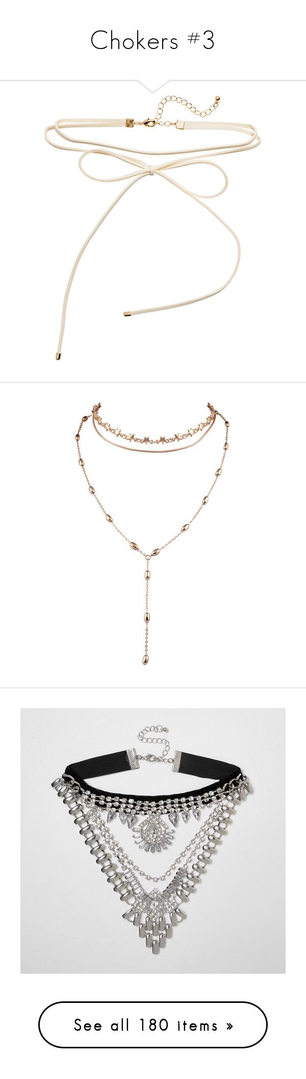 """""""Chokers #3"""" by marissa-91 ❤ liked on Polyvore featuring jewelry, necklaces, bijoux, strand necklace, choker necklace, adjustable necklace, bow necklaces, bow choker, accessories and choker"""