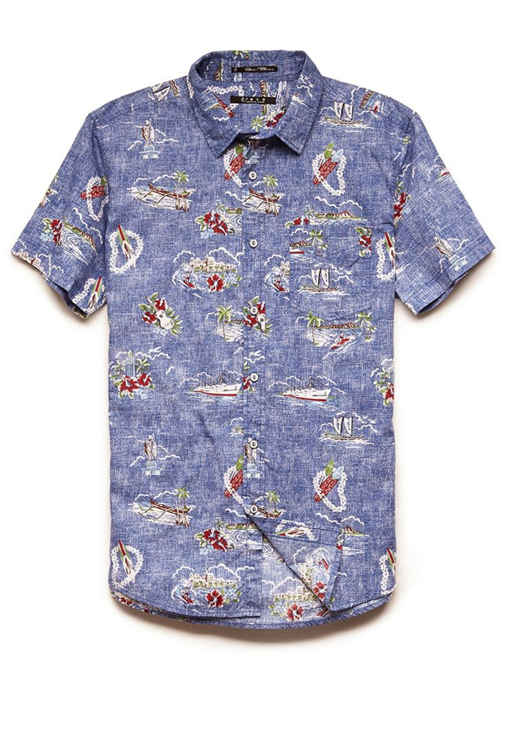 Classic Fit Aloha Shirt | 21 MEN #21Men