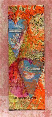 """Their Prayers Are Heard"" Mixed media art - Cloth Paper Scissors  joannabananadesignoriginals.blogspot.com"