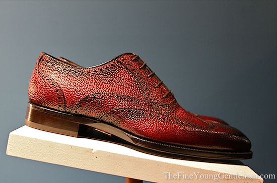 Scarpe Di Bianco Red Pebble Grain Brogue theshoesnobblog.com