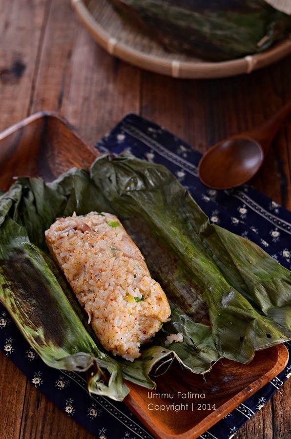 Nasi Bakar Ayam Teri Nasi
