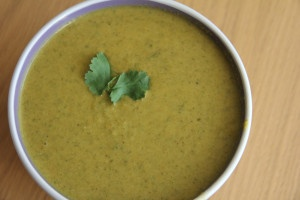 broccoli and kale spicy soup
