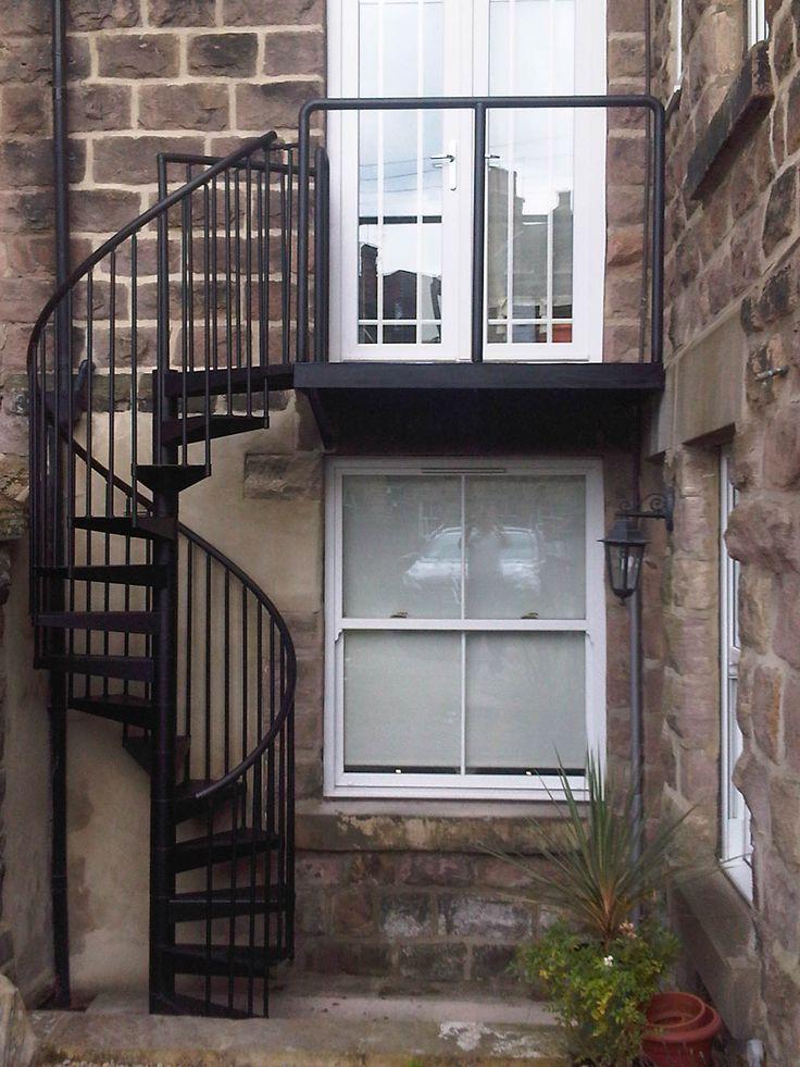 Best 25 spiral stair ideas on pinterest spiral - Spiral staircase exterior aluminum ...