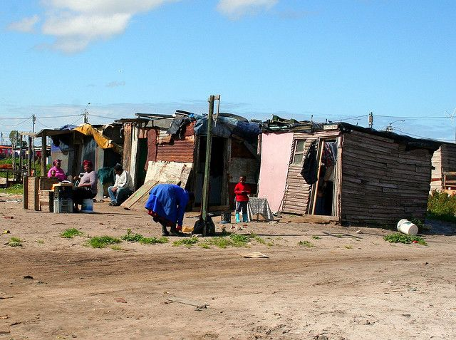 Houses in Khayelitsha Township, Cape Flats, Cape Town, South Africa © A guy called John