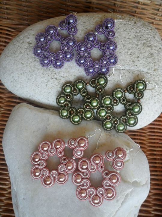 Sweet trio of Soutache Earrings https://www.facebook.com/pages/Le-Creazioni-di-Pandora/114349735296055