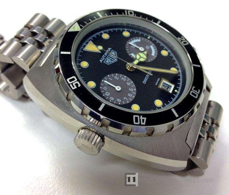 Heuer Autavia 11063P Diver 100: Heuer Autavia, Vintage Heuer, Vintage Watches, 11063 Diver, 11063P Diver, Autavia 11630, Autavia 11063P, Diver Gmt, Heuer Buy