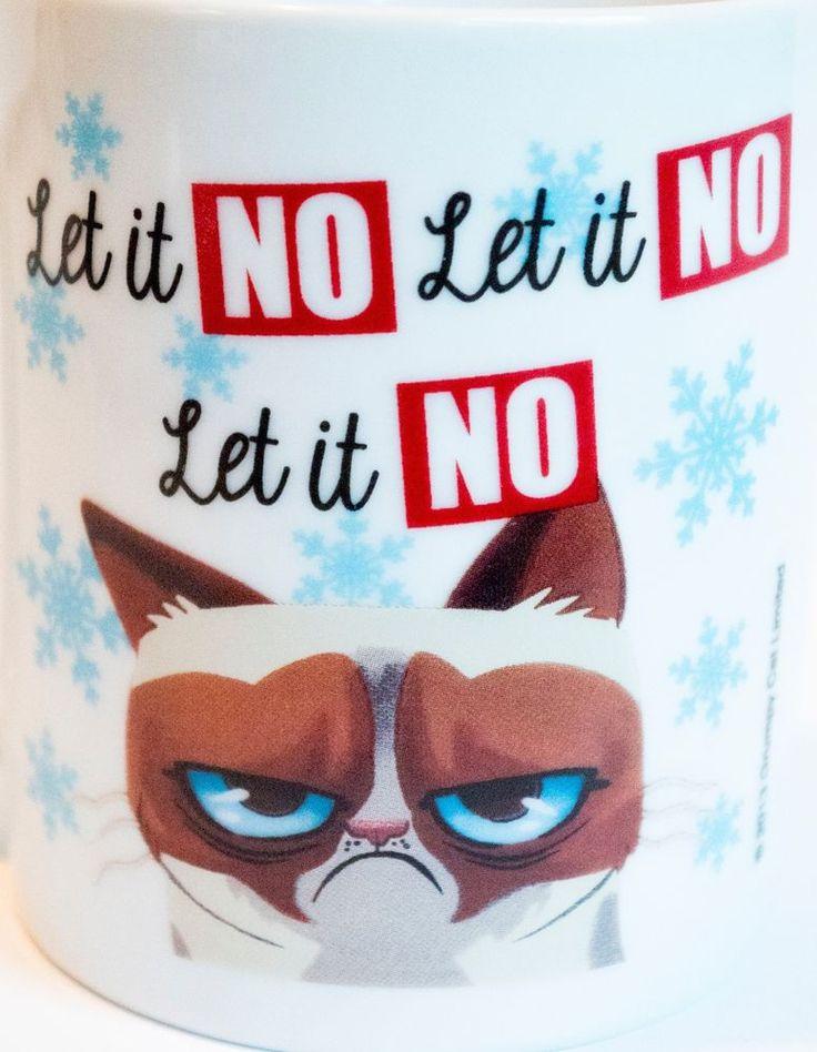 Grumpy Cat Christmas Coffee Mug Let it No, Let it No, Let in No | Collectibles, Decorative Collectibles, Mugs, Cups | eBay!