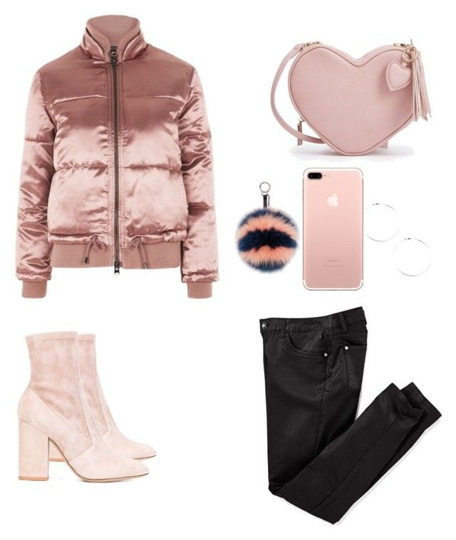 """Puffer jacket💖"" by parisianights on Polyvore featuring moda, Topshop, Fendi, Valentino, outfit, polyvoreeditorial, polyvorefashion ve puffers"