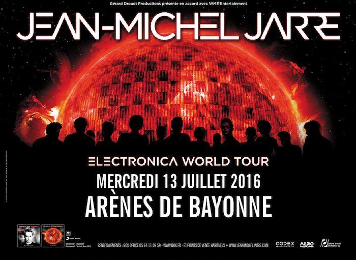 Jean-Michel Jarre : 1er concert de sa grande tournée: Electronica World Tour, à Bayonne