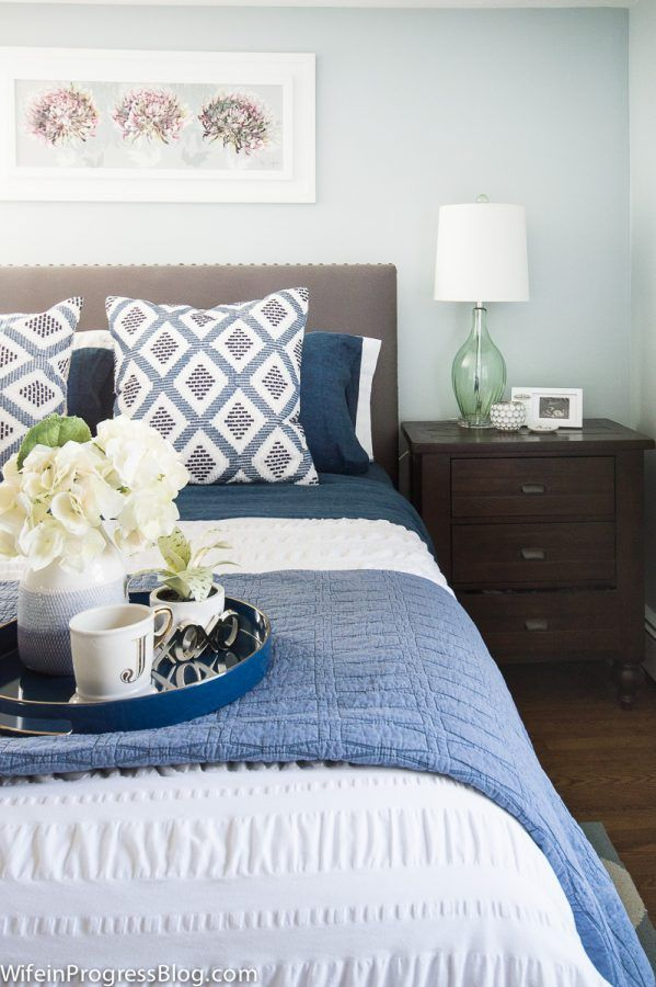 Blue Bedroom Ideas A Quick Bedroom Winter Refresh