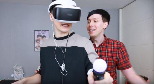 Introduction on Dan and Phil GET REAL JOBS - Job Simulator VR!