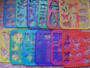 Tupperware stencil set.... still have them!