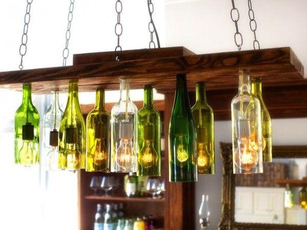 Wine Bottle Chandelier