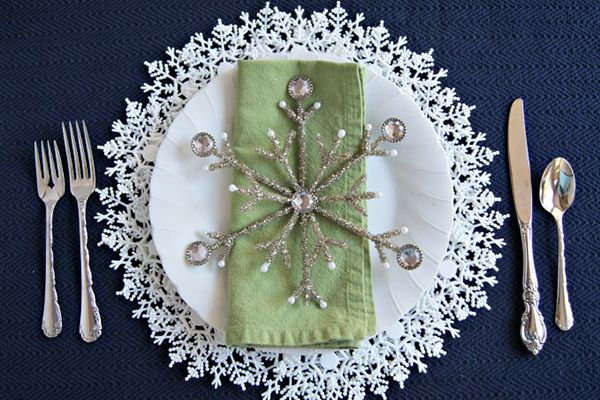 Dollar Store Snowflake Craft