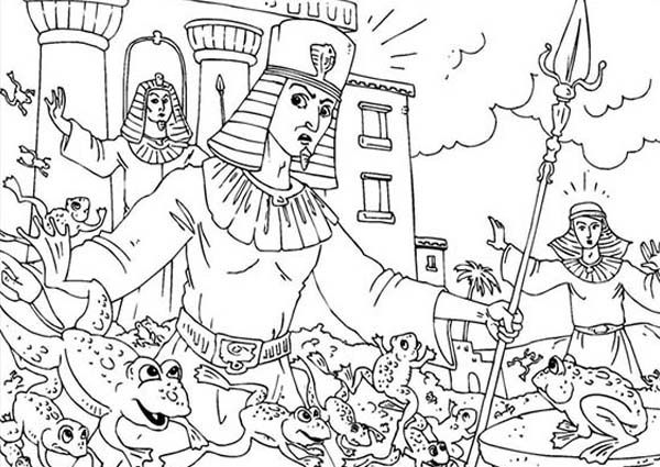 Frog Plague Coloring Page Sketch Coloring Page
