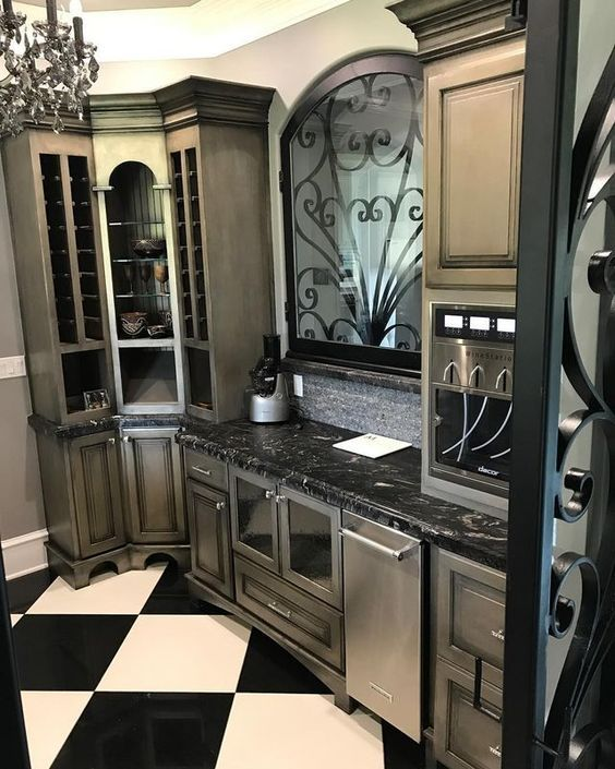 Just Add Metallic Paint! Beautiful Cabinets With Modern ...