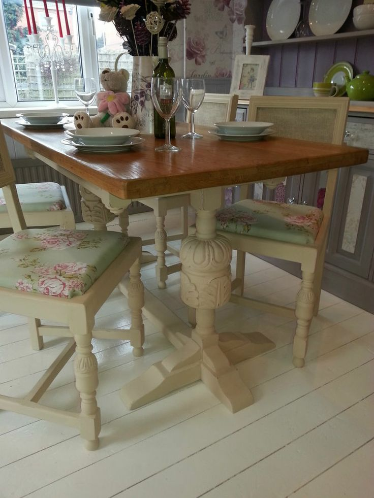 Beautiful Shabby Chic Vintage Solid Oak Farmhouse Table and Chairs by Chic  Boutique Furniture Leicester 117 best Chic Boutique furniture images on Pinterest   Leicester  . Old Dining Chairs Leicester. Home Design Ideas