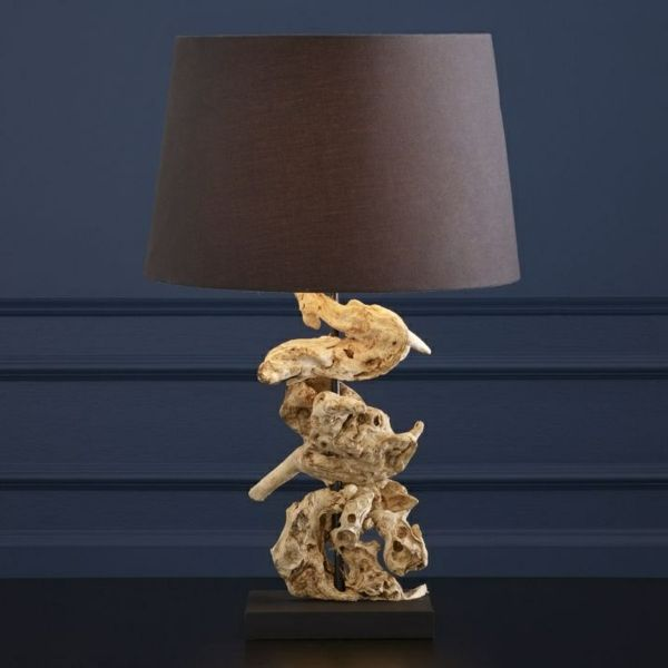 originelleTreibholz Tischlampe